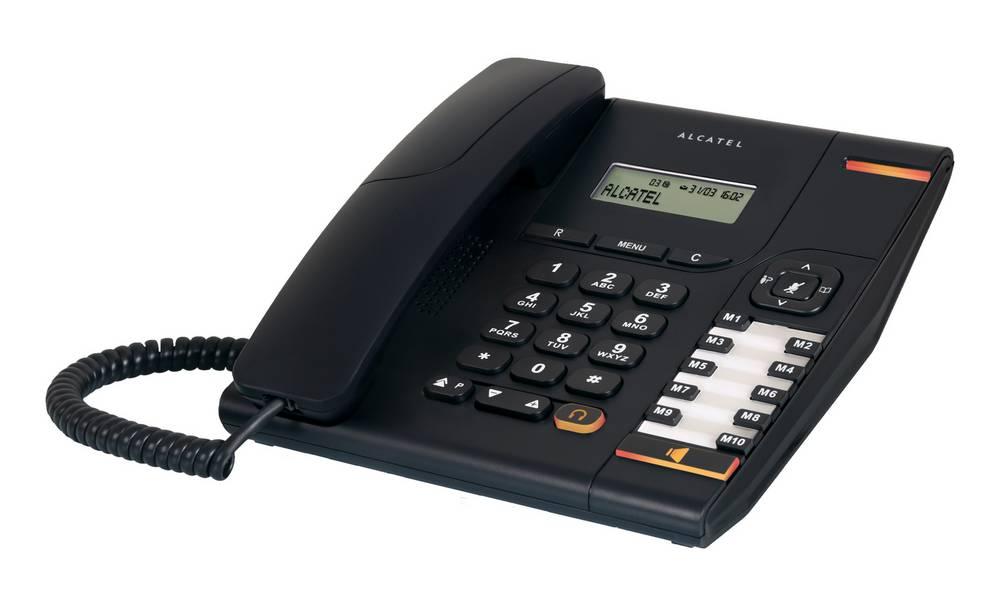 Σταθερό Ψηφιακό Τηλέφωνο Alcatel Temporis 580 Μαύρο, με Οθόνη, Ανοιχτή Ακρόαση και Υποδοχή Σύνδεσης Ακουστικού Κεφαλής (RJ9)
