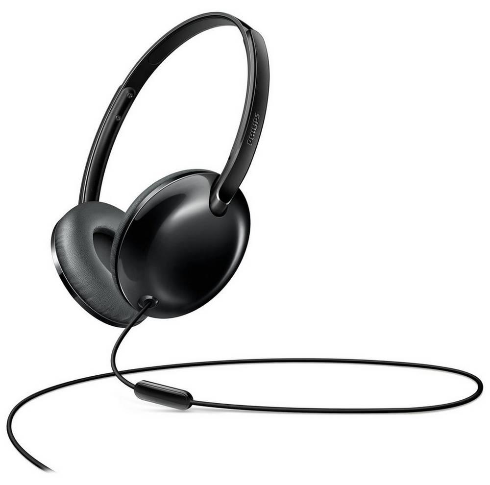 Ακουστικά Stereo με Μικρόφωνο Philips SHL4405BK/00 3.5 mm για Apple-Samsung-Sony-Huawei-LG Μαύρο