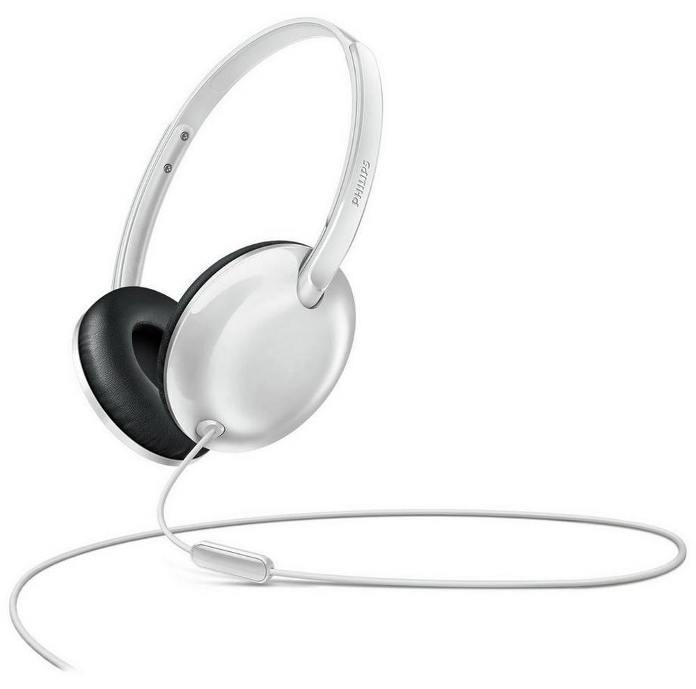 Ακουστικά Stereo με Μικρόφωνο Philips SHL4405WT/00 3.5 mm για Apple-Samsung-Sony-Huawei-LG Λευκό