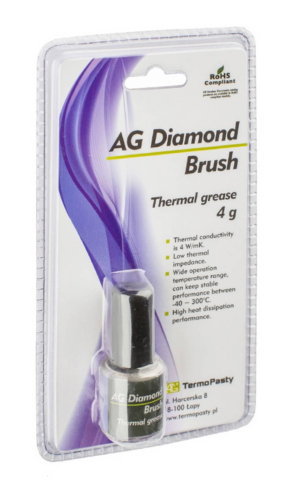 Θερμοαγώγιμη Πάστα TermoPasty AG Diamond Brush 4gr Κατάλληλο για Επεξεργαστές και Ολοκληρωμένα Κυκλώματα