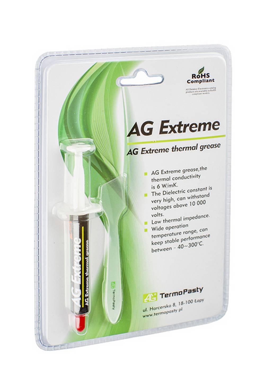 Θερμοαγώγιμη Πάστα TermoPasty AG Extreme 3gr Υψηλής Αντοχής Κατάλληλο για Επεξεργαστές και Ολοκληρωμένα Κυκλώματα