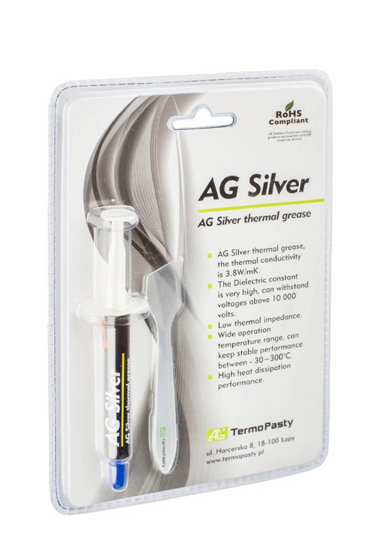 Θερμοαγώγιμη Πάστα TermoPasty AG Silver 3gr Υψηλής Αντοχής Κατάλληλο για Επεξεργαστές και Ολοκληρωμένα Κυκλώματα