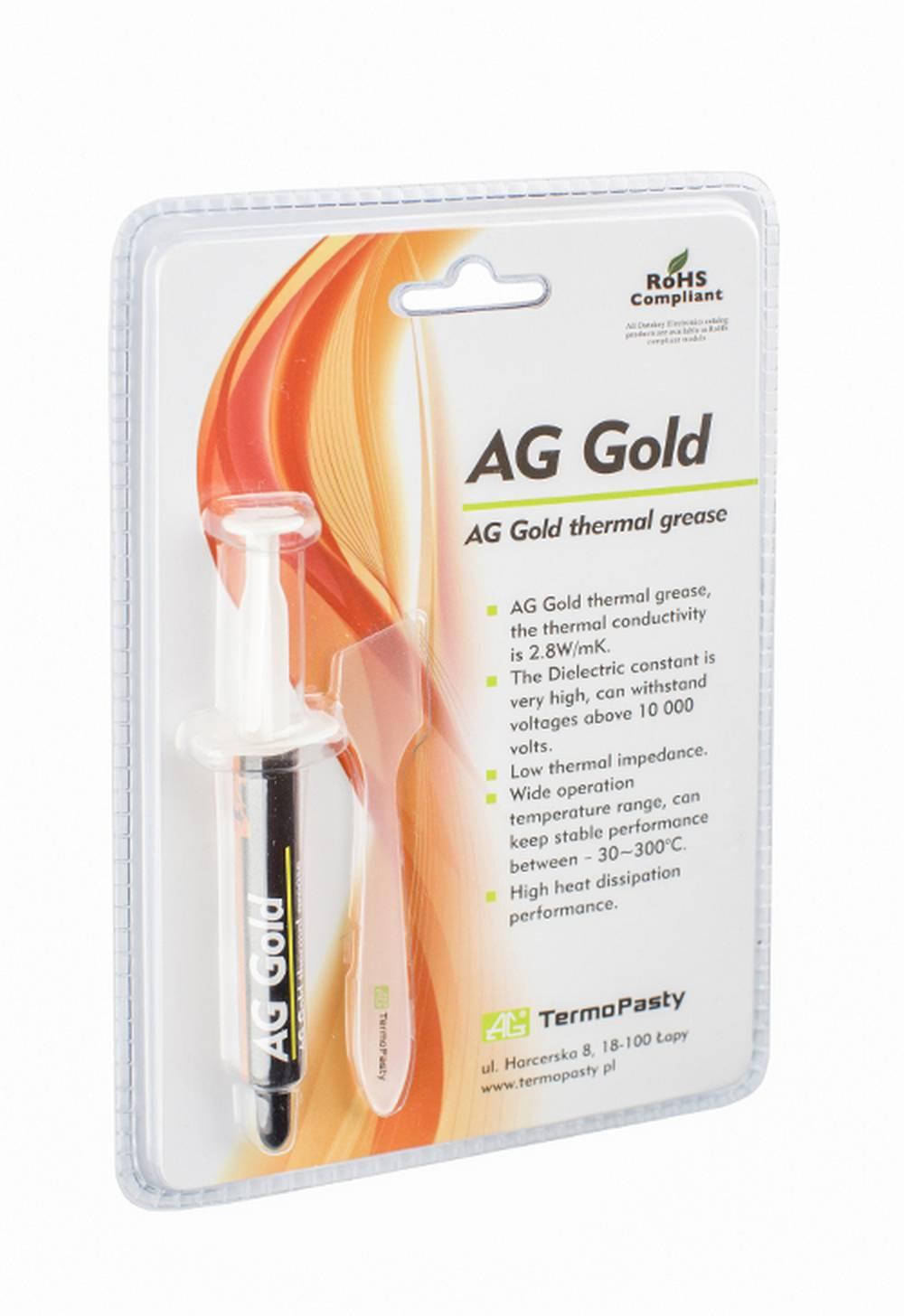 Θερμοαγώγιμη Πάστα TermoPasty AG Gold 3gr Υψηλής Αντοχής Κατάλληλο για Επεξεργαστές και Ολοκληρωμένα Κυκλώματα