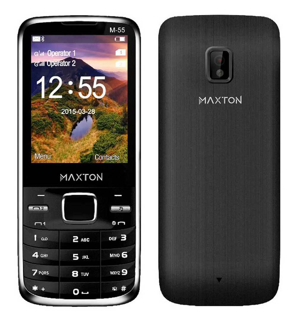 """Maxton Classic M55 (Dual Sim) 2.4"""" με Κάμερα, Bluetooth, Φακό και Ραδιόφωνο Μαύρο"""