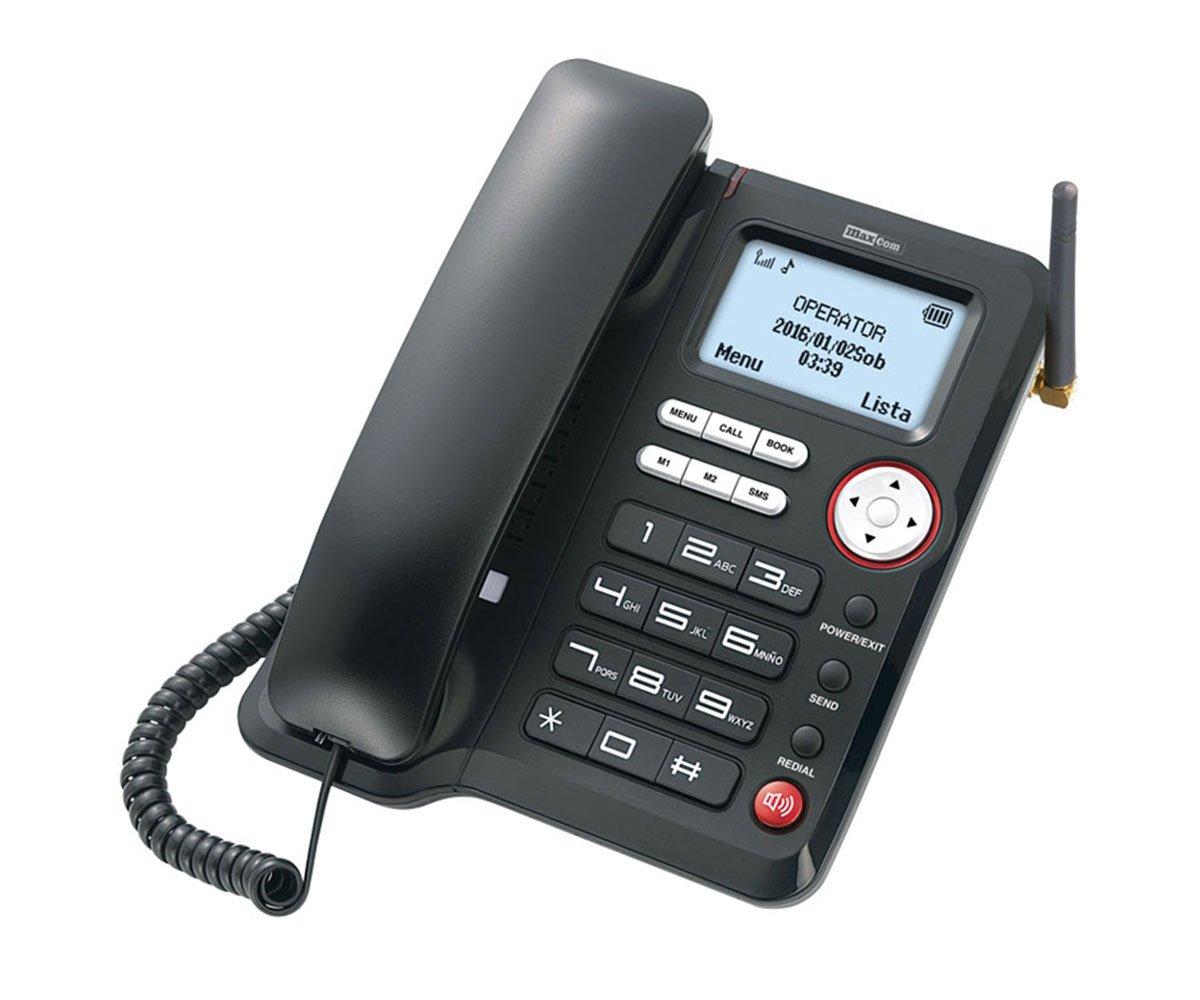 Σταθερό 3G Τηλέφωνο Maxcom Comfort MM29D Μαύρο με Λειτουργία Κινητού Τηλεφώνου