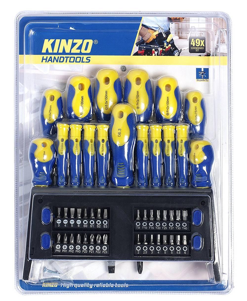 Σέτ Κατσαβίδια Kinzo 93526 49 Τεμάχιων με Βάση
