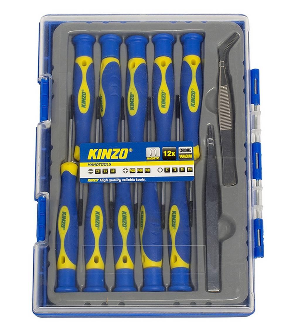 Κατσαβίδια Kinzo 56410 Σέτ 12 Τεμαχίων Μαγνητικά με Τσιμπήδες