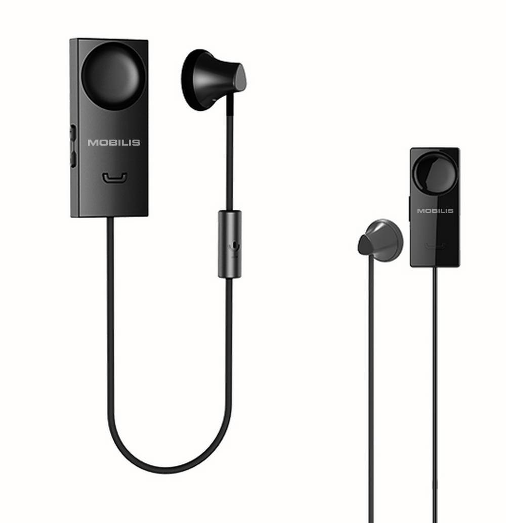 Bluetooth Hands Free Mobilis S18 Magnetic με Δόνηση Μαύρο