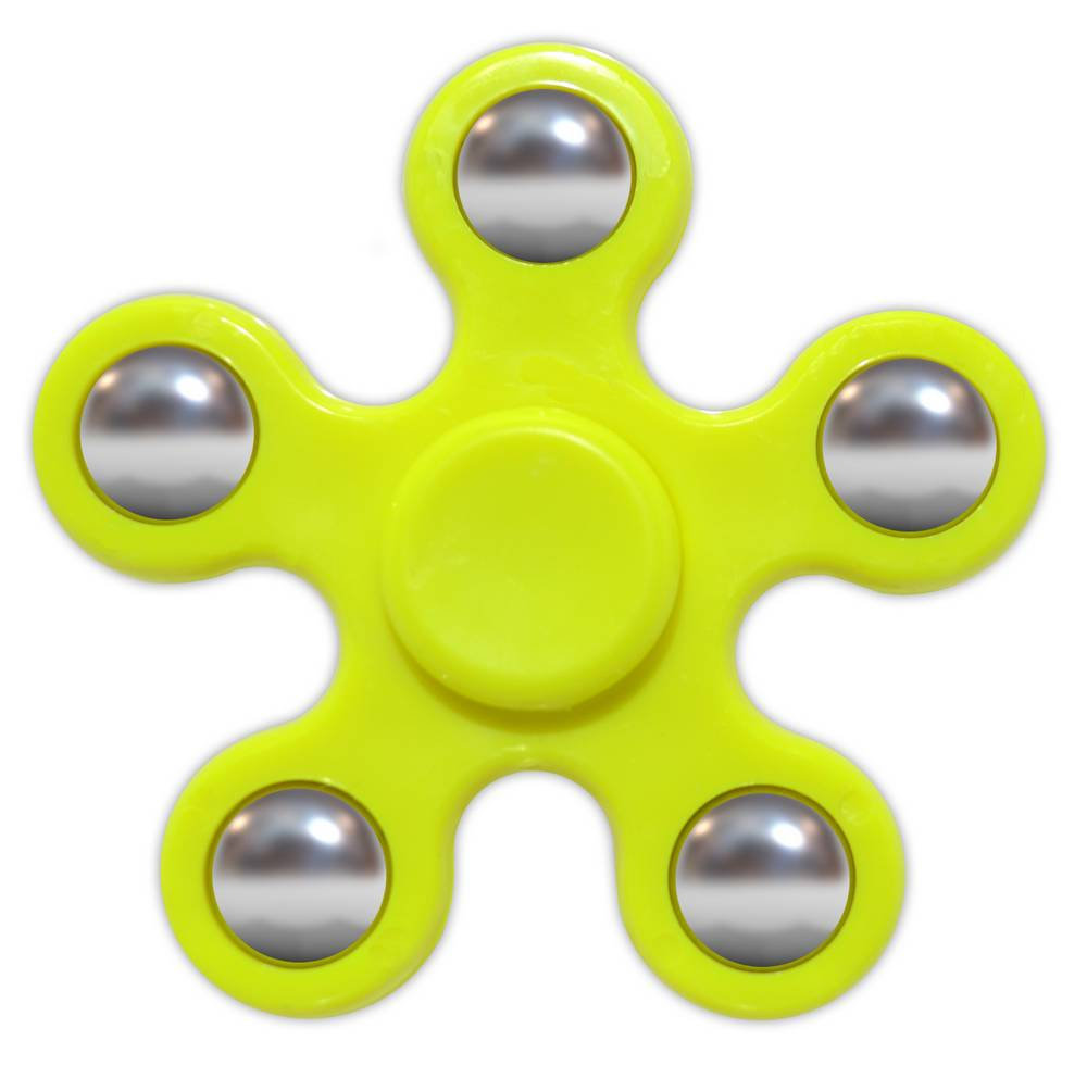 Fidget Spinner ABS Plastic 5 Leaves Κίτρινο 2.5 min