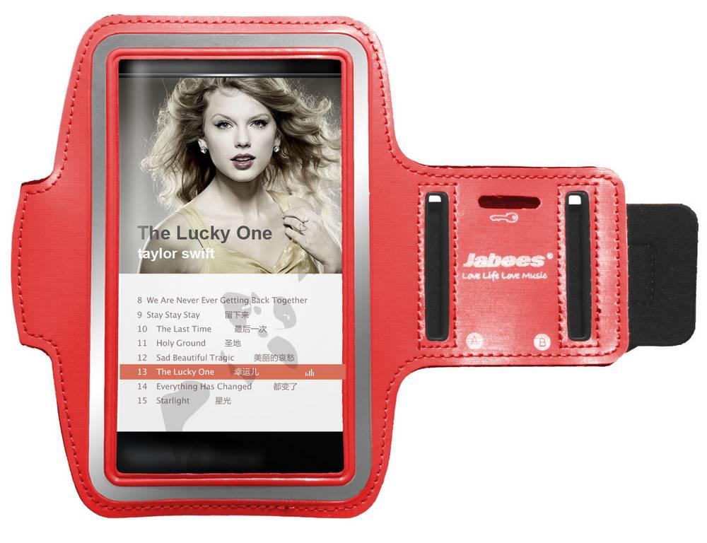 Θήκη Μπράτσου Jabees για iPhone 7 Plus/Redmi Note 4 Κόκκινη και Συμβατά Τηλέφωνα