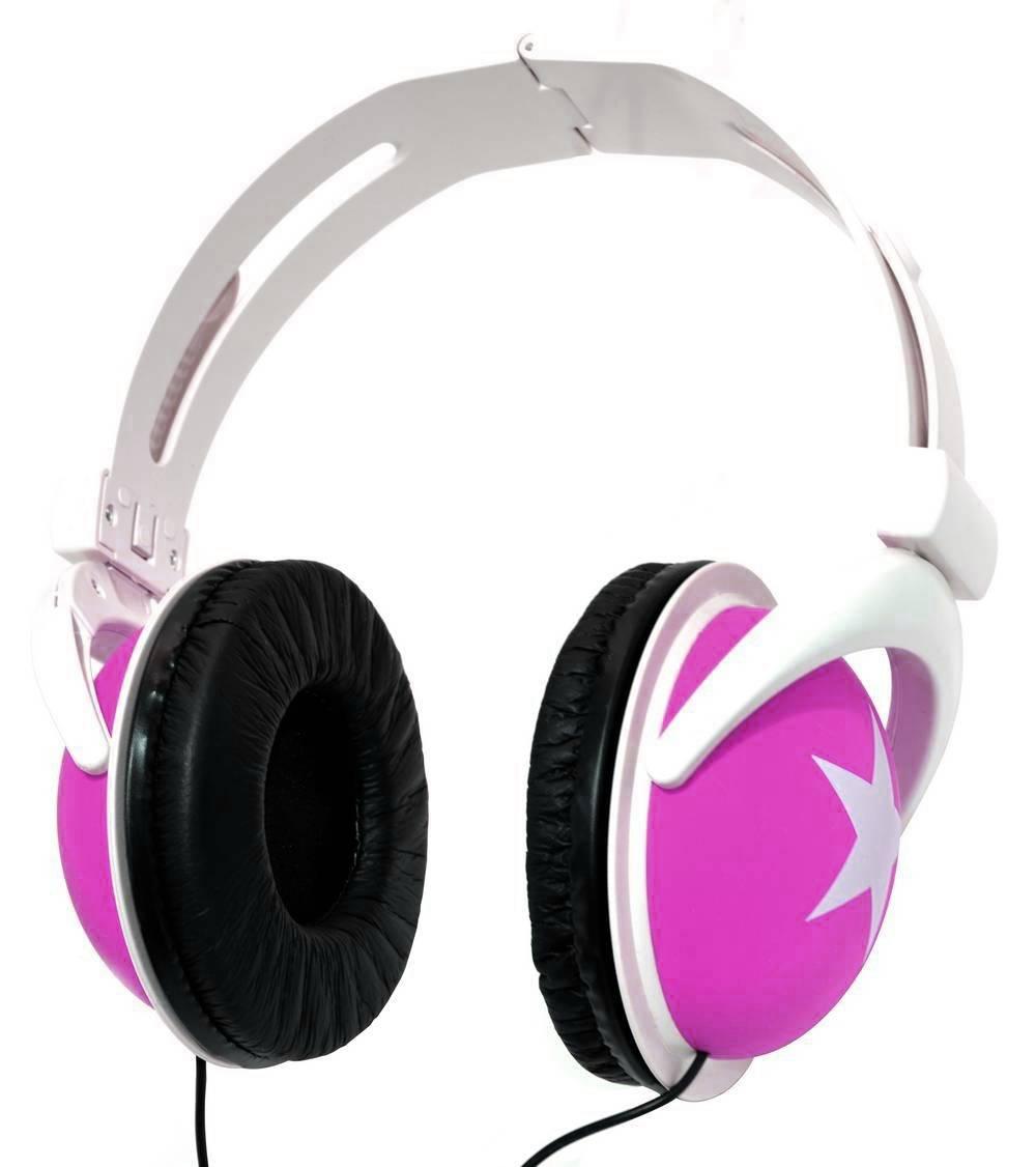 Ακουστικά Stereo Star Foldable 3.5 mm Ρόζ για mp3, mp4 και Συσκευές Ήχου Polybag
