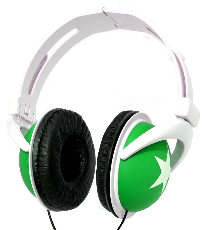 Ακουστικά Stereo Star Foldable 3.5 mm Πράσινο για mp3, mp4 και Συσκευές Ήχου Polybag