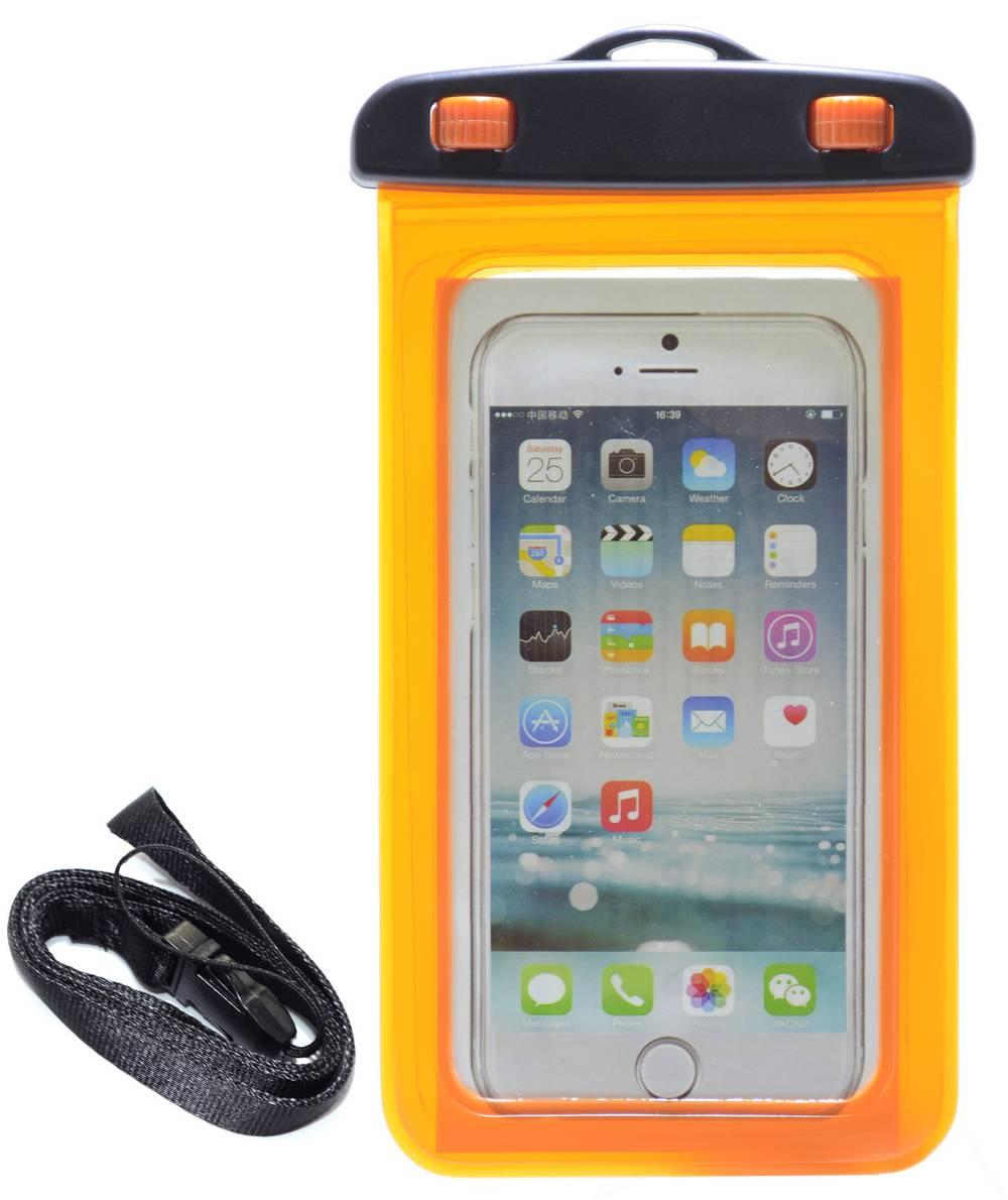 Θήκη Αδιάβροχη Ancus για iPhone 6 Plus/Note 4/Note 5 και Ηλεκτρονικών Συσκευών Πορτοκαλί