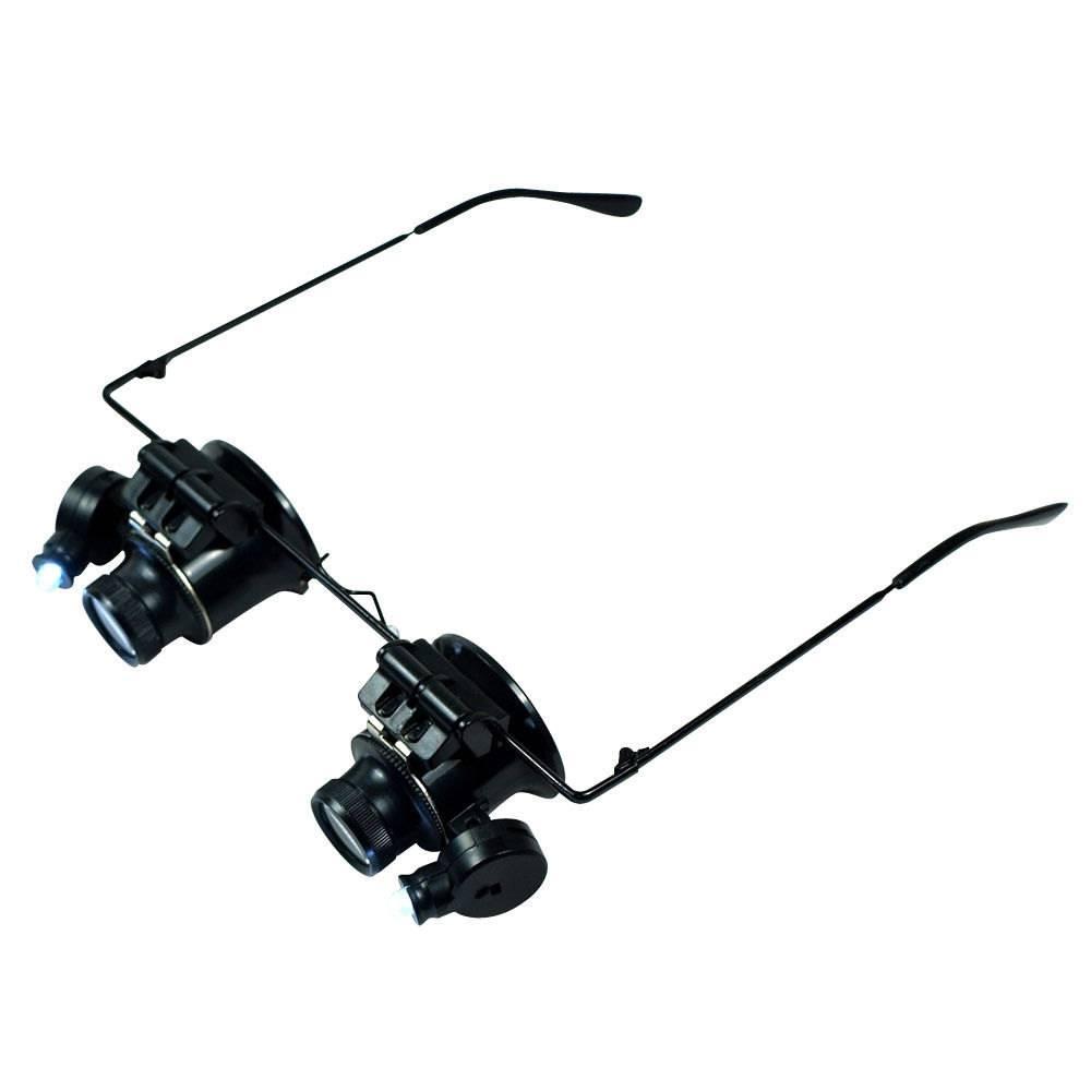 Μεγεθυντικός Φακός Κεφαλής 9892A-II 20x με Led σε Σκελετό Γυαλιών