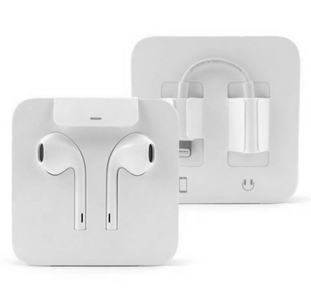 Hands Free Stereo Apple EarPods Lightning MMTN2ZM/A με Αντάπτορα 3.5mm σε Lightning Original Bulk