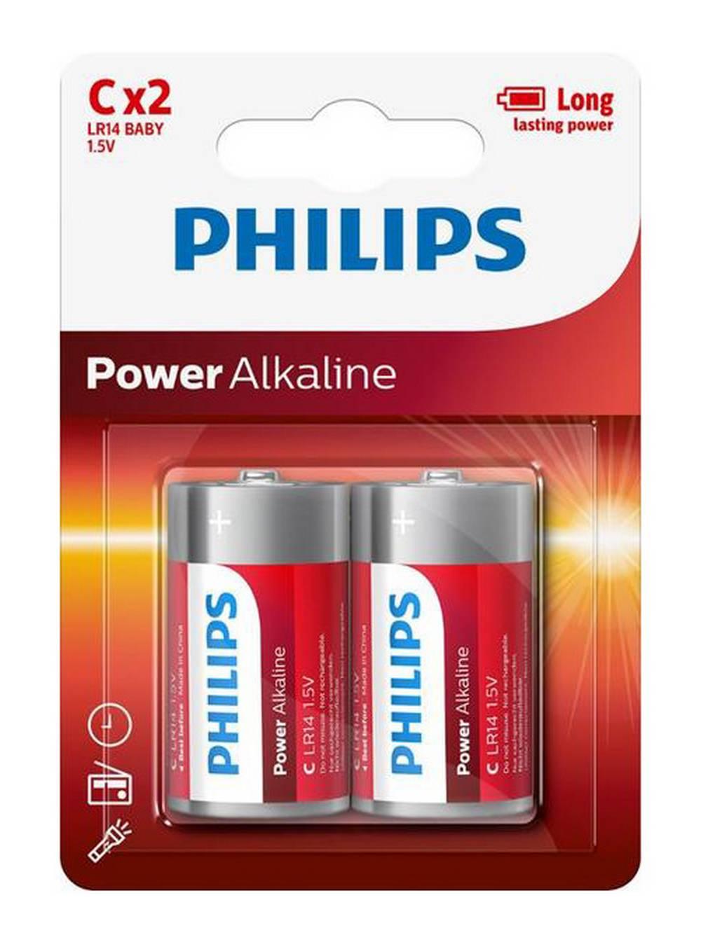 Μπαταρία Power Alkaline Philips LR14 size C 1.5 V Τεμ. 2