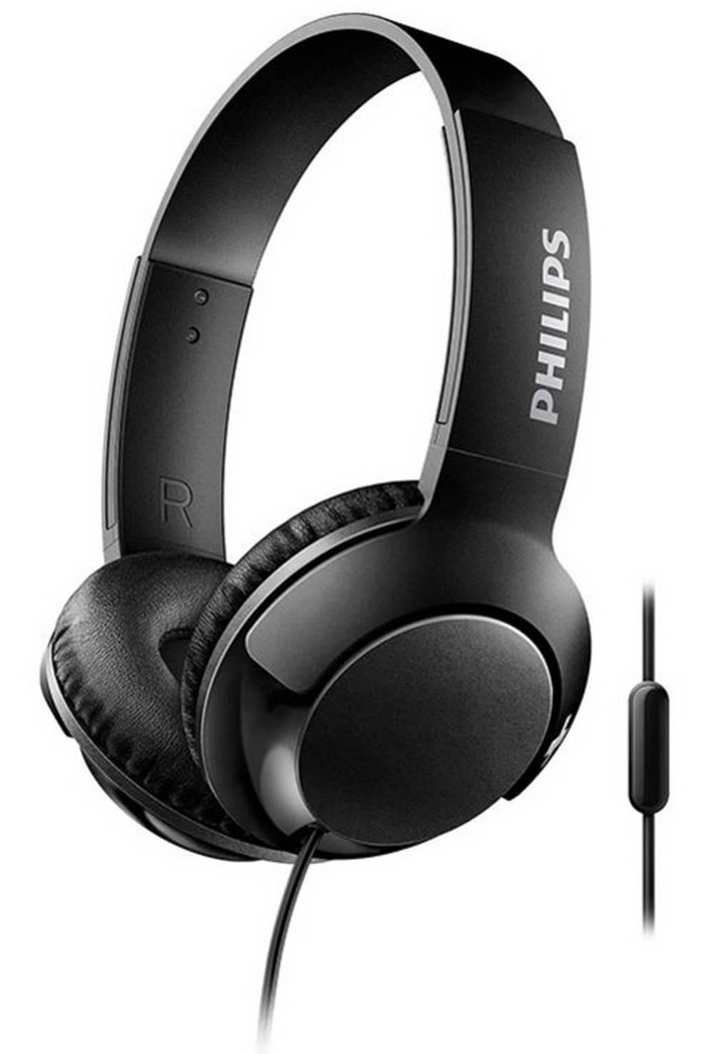 Ακουστικά Stereo με Μικρόφωνο Philips BASS+ SHL3075BK/00 3.5 mm για Apple-Samsung-Sony-Huawei-LG Μαύρο