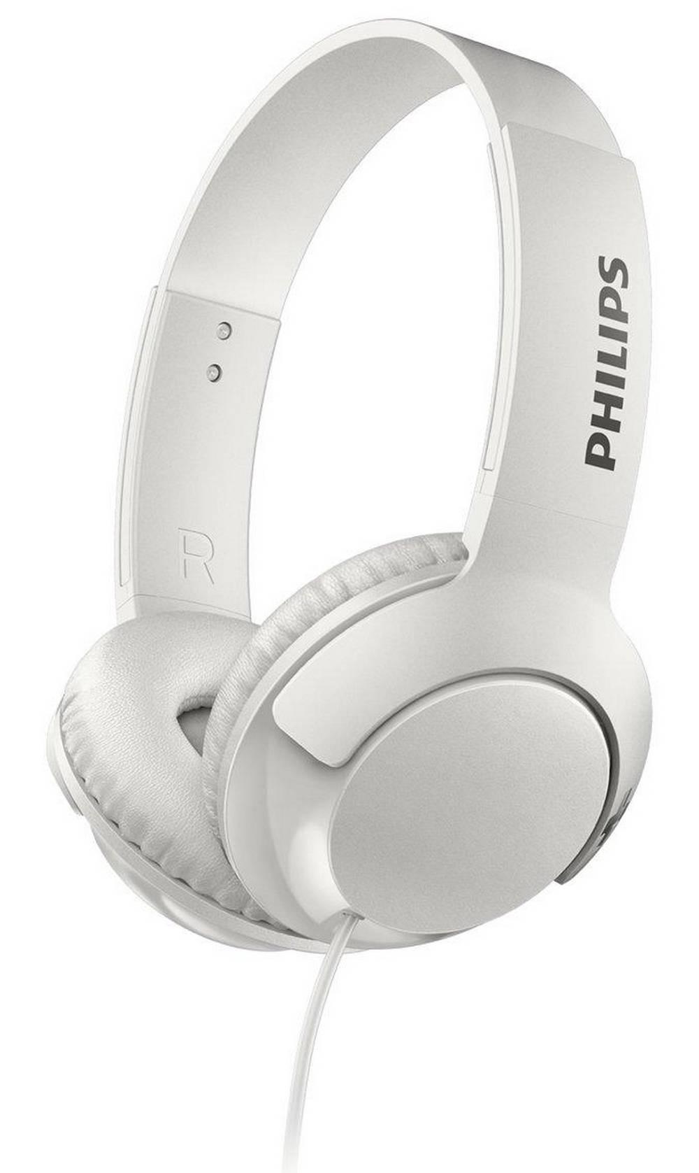 Ακουστικά Stereo με Μικρόφωνο Philips BASS+ SHL3075WT/00 3.5 mm για Apple-Samsung-Sony-Huawei-LG Λευκό