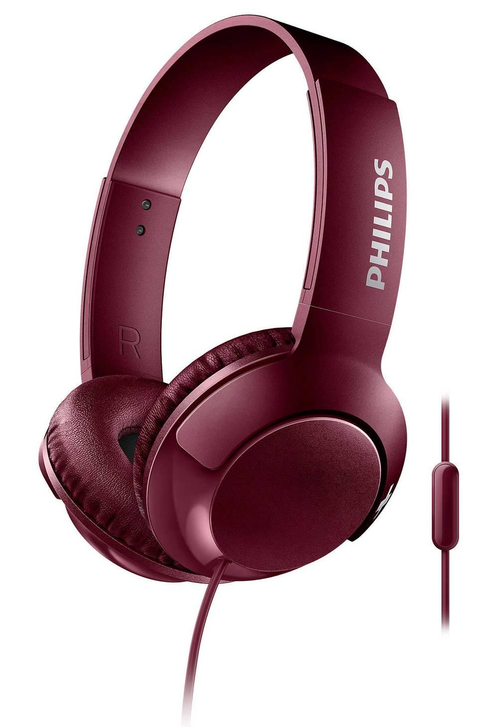 Ακουστικά Stereo με Μικρόφωνο Philips BASS+ SHL3075RD/00 3.5 mm για Apple-Samsung-Sony-Huawei-LG Κόκκινο