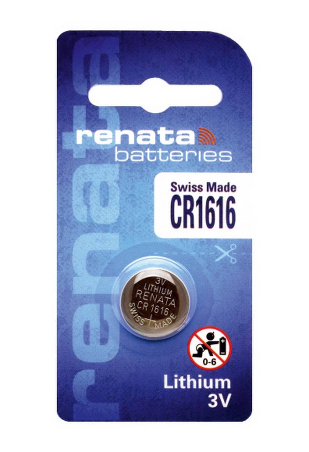 Buttoncell Lithium Electronics Renata CR1616 Τεμ. 1