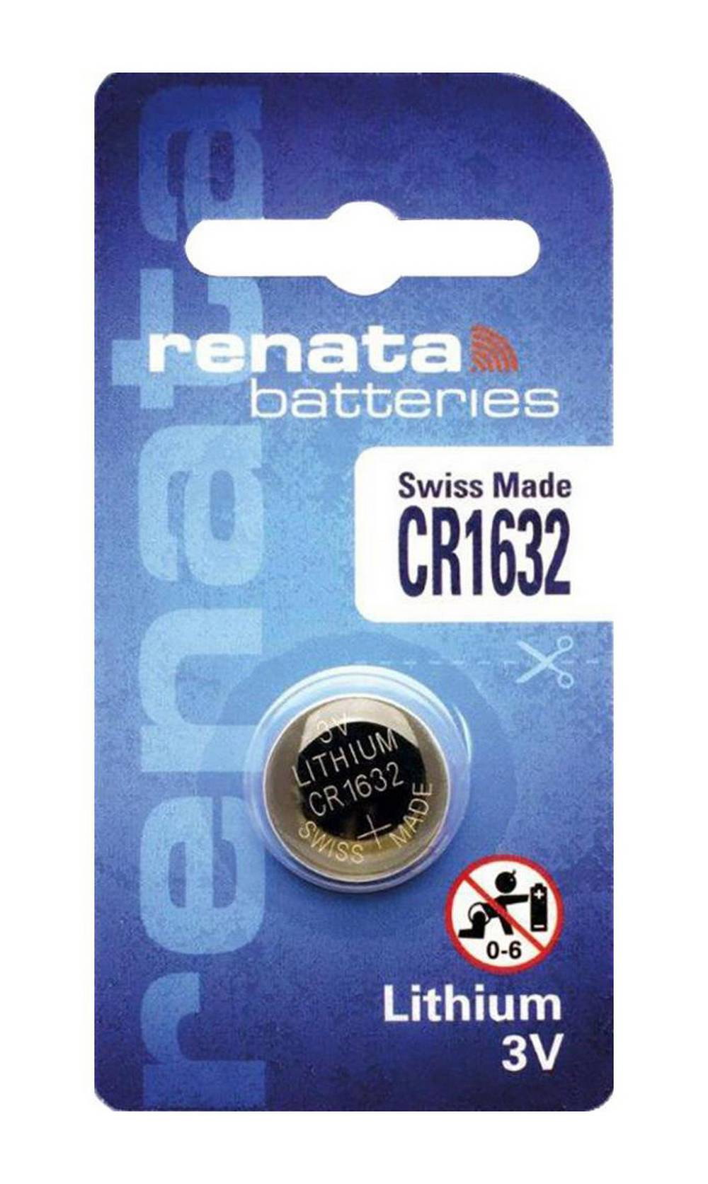 Buttoncell Lithium Electronics Renata CR1632 Τεμ. 1