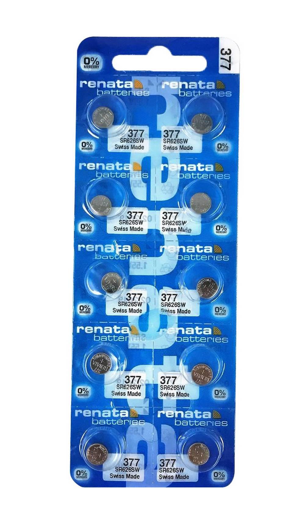 Buttoncell Renata 377 SR626SW Τεμ. 10