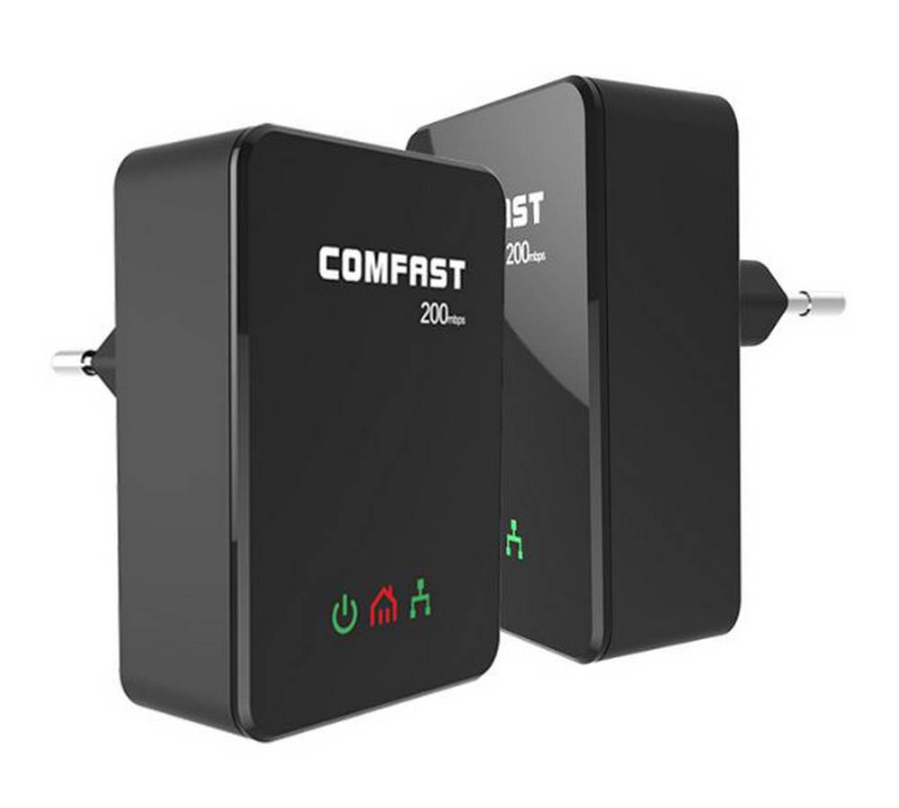 Powerline Adapter Comfast CF-WP200M 200 Mbps Σέτ 2 Τεμαχίων