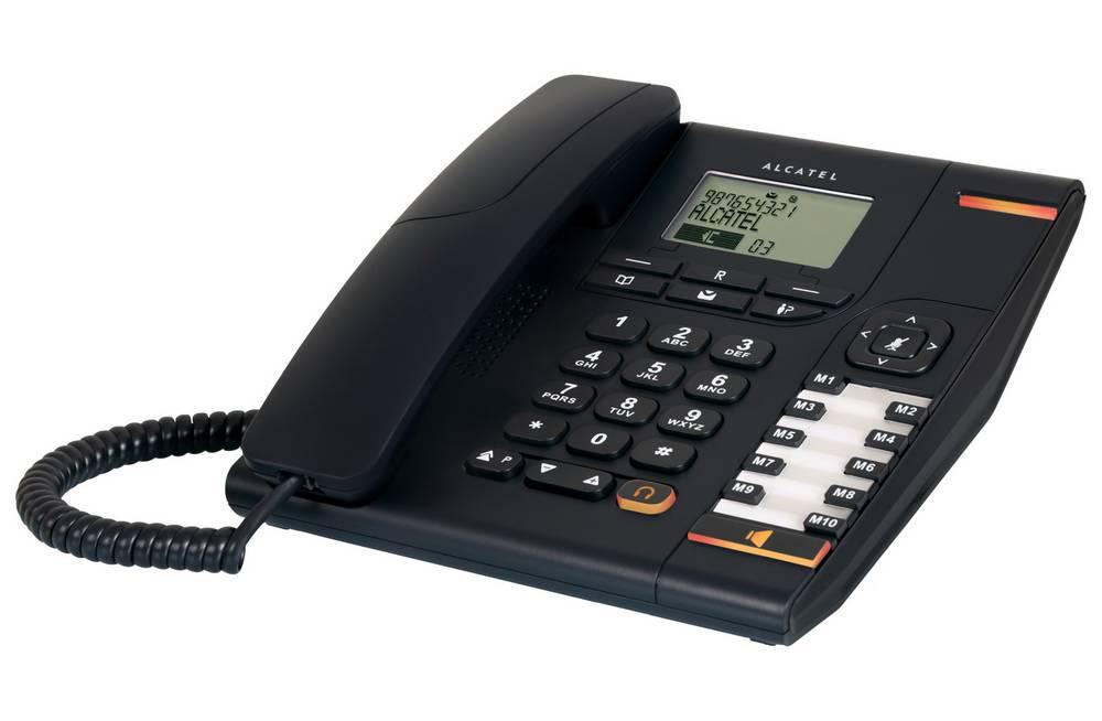 Σταθερό Ψηφιακό Τηλέφωνο Alcatel Temporis 780 Μαύρο, με Οθόνη, Ανοιχτή Ακρόαση και Υποδοχή Σύνδεσης Ακουστικού Κεφαλής (RJ9)