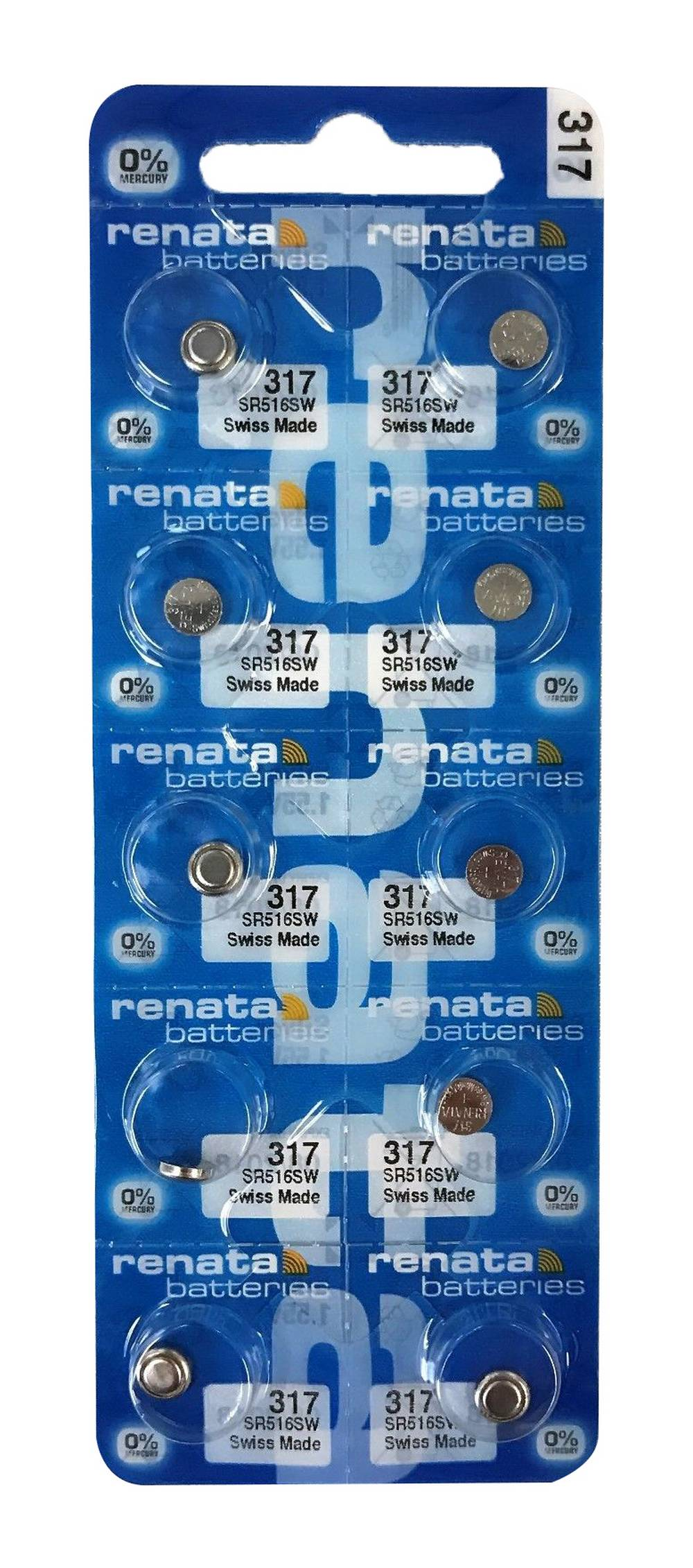 Buttoncell Renata 317 SR516SW Τεμ. 10
