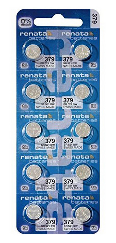 Buttoncell Renata 379 SR521SW Τεμ. 10