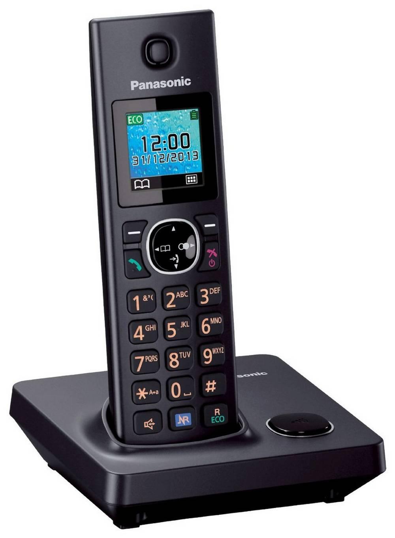 Ασύρματο Ψηφιακό Τηλέφωνο Panasonic KX-TG7851GRB Μαύρο
