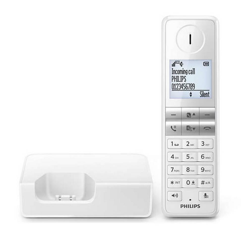 Ασύρματο Ψηφιακό Τηλέφωνο Philips D4601W/23 Λευκό με Λειτουργία ECO+