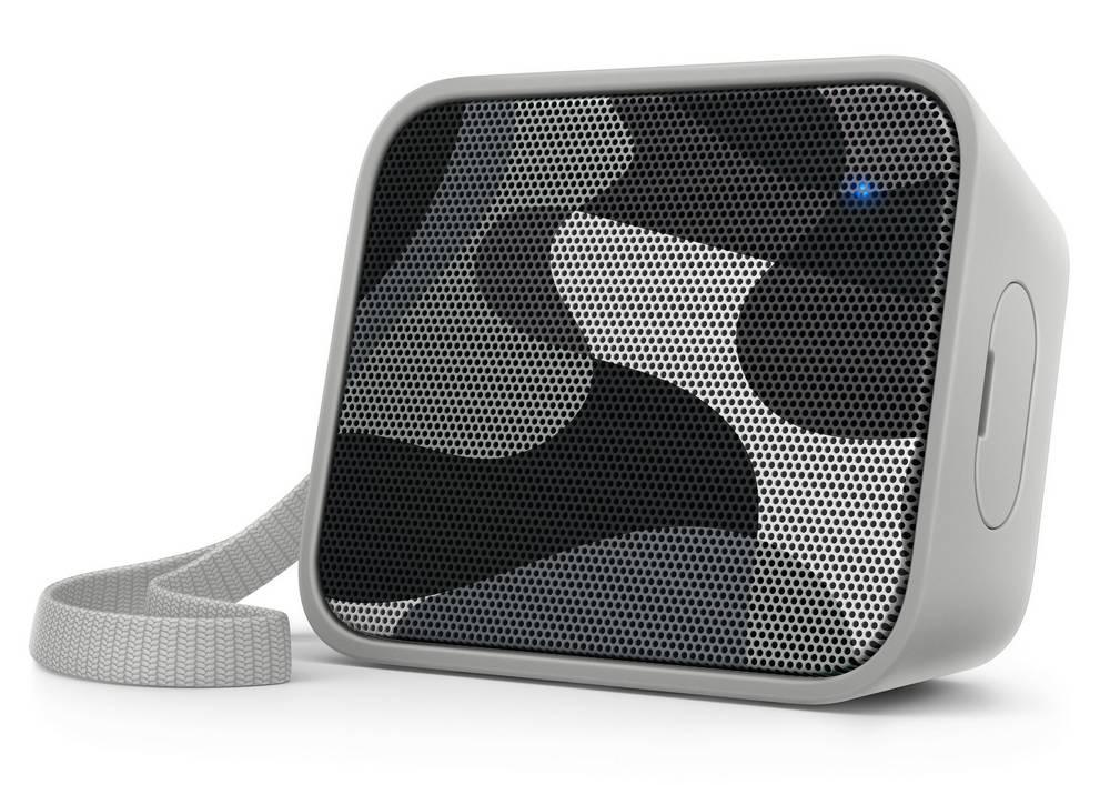 Φορητό Ηχείο Bluetooth Philips Pixel Pop BT110C/00 4W Sweat-Proof IPX4 Γκρί με Ανοιχτή Ακρόαση και Σύνδεση Audio-in 3.5mm