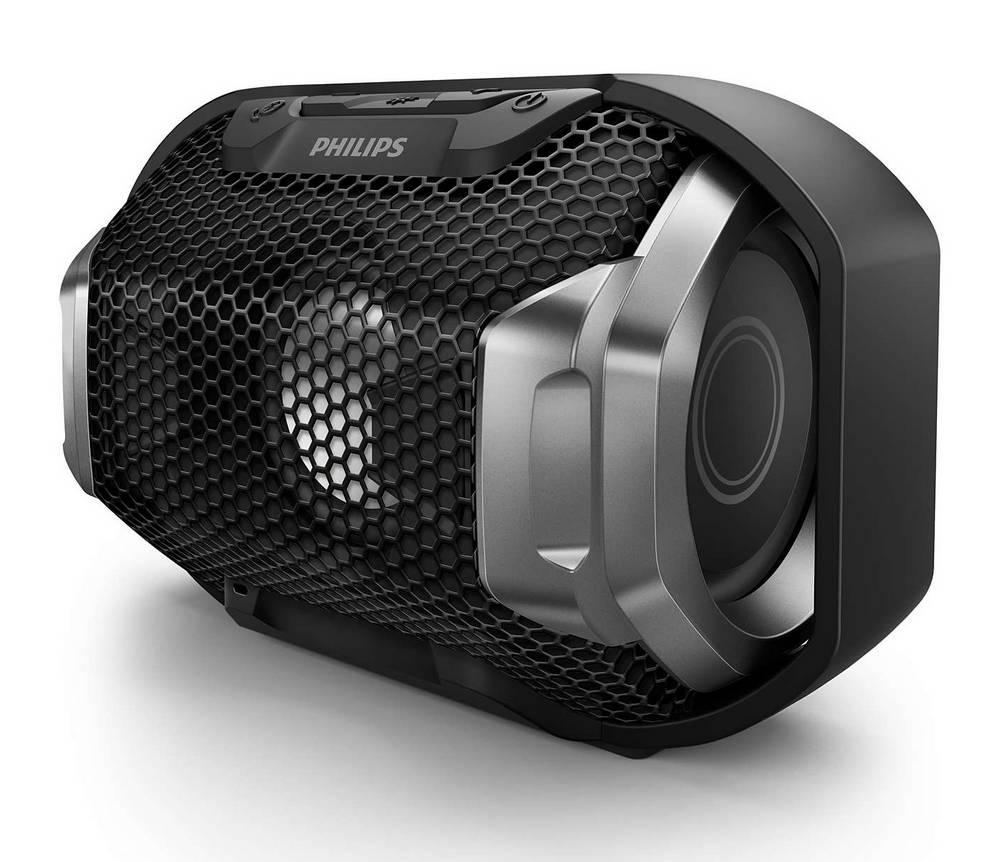Φορητό Ηχείο Bluetooth Philips ShoqBox SB300B/00 4W Waterproof Μαύρο με Ανοιχτή Ακρόαση και Σύνδεση Audio-in 3.5mm
