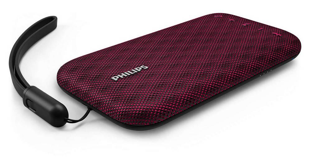 Φορητό Ηχείο Bluetooth Philips EverPlay BT3900P/00 4W Waterproof Ρόζ με Ανοιχτή Ακρόαση και Σύνδεση Audio-in 3.5mm