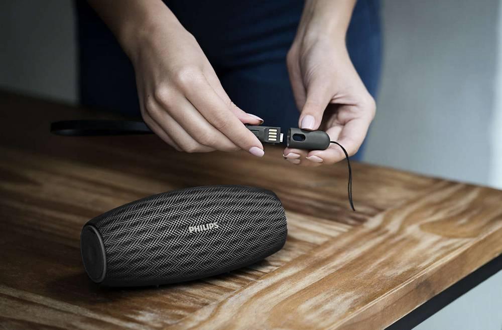 Φορητό Ηχείο Bluetooth Philips EverPlay BT6900B/00 10W Waterproof Μαύρο με Ανοιχτή Ακρόαση και Σύνδεση Audio-in 3.5mm