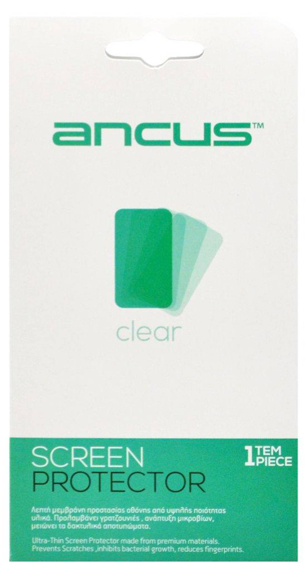 Screen Protector Ancus για Alcatel One Touch Pixi 4 (5) 3G Dual Sim OT-5010D Clear