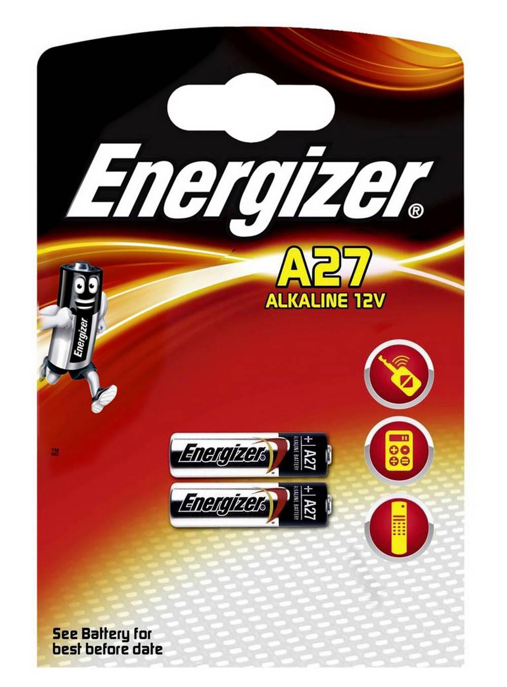 Μπαταρία Αλκαλική Energizer A27/27A/CA22/EL812/EL812/G27A/GP27A/L828/MN27 12V Τεμ. 2