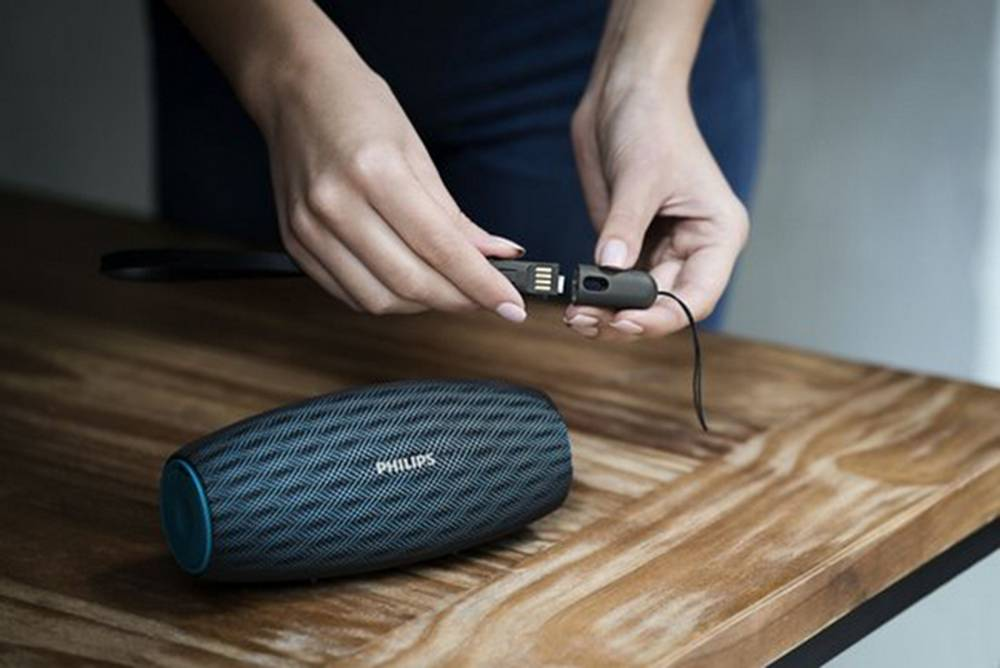 Φορητό Ηχείο Bluetooth Philips EverPlay BT6900A/00 10W Waterproof Μπλέ με Ανοιχτή Ακρόαση και Σύνδεση Audio-in 3.5mm