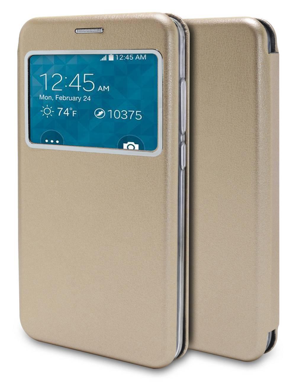 Θήκη Book Ancus S-View Magnetic Curve για Samsung SM-N950F Galaxy Note 8 TPU Χρυσαφί