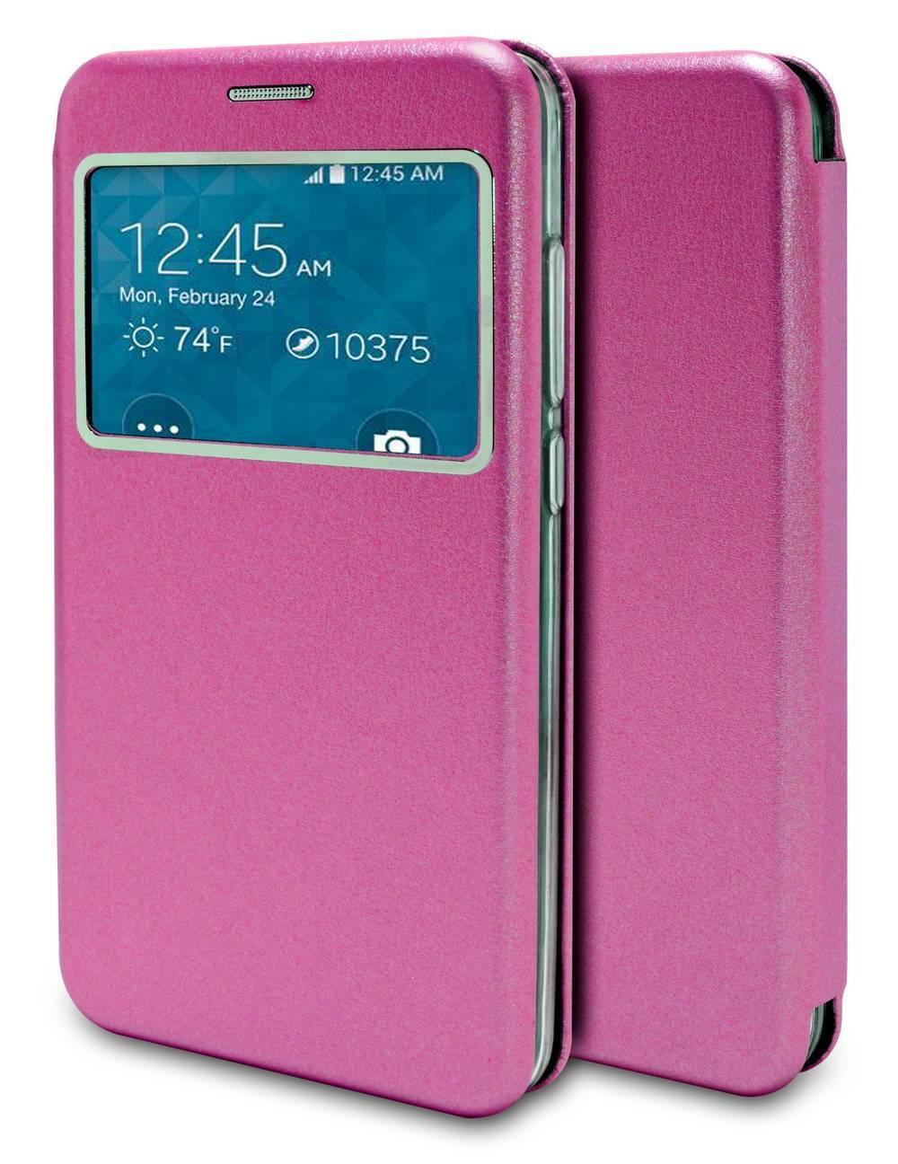 Θήκη Book Ancus S-View Magnetic Curve για Samsung SM-N950F Galaxy Note 8 TPU Φούξια
