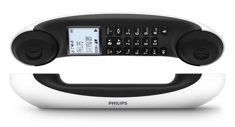 Ασύρματο Ψηφιακό Τηλέφωνο Philips Mira M5601WG/23 Λευκό - Σκούρο Γκρί με Λειτουργία ECO+