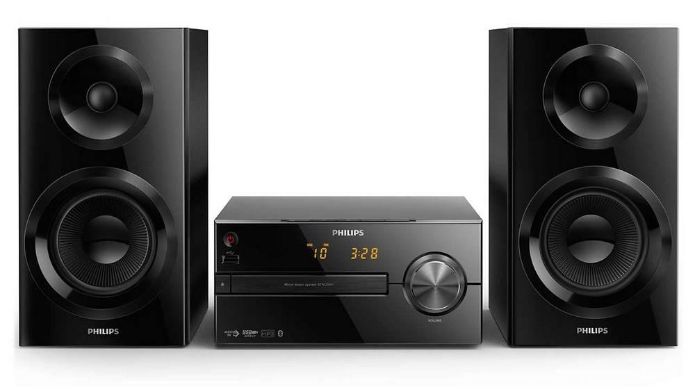 Ηχοσύστημα Micro Philips 70W BTM2560/12 Μαύρο με MP3 Link,USB Θύρα και Bluetooth