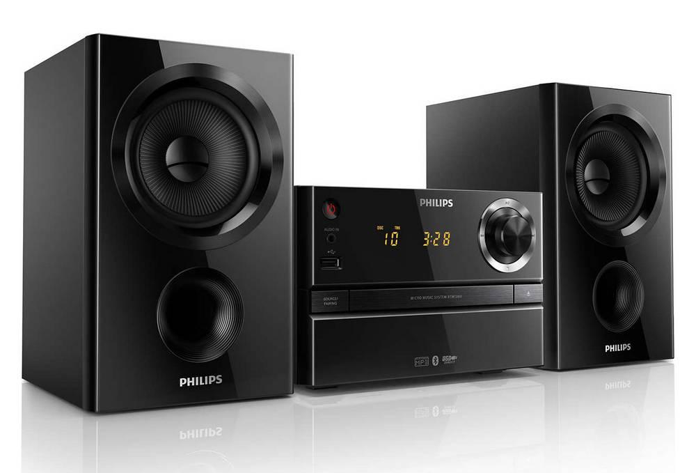 Ηχοσύστημα Micro Philips 30W BTM1560/12 Μαύρο με MP3 Link,USB Θύρα και Bluetooth