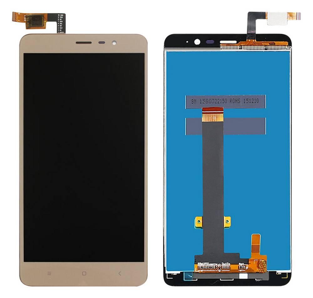 Οθόνη & Μηχανισμός Αφής Xiaomi Redmi Note 3 Χρυσαφί (Διάσταση:147mm)