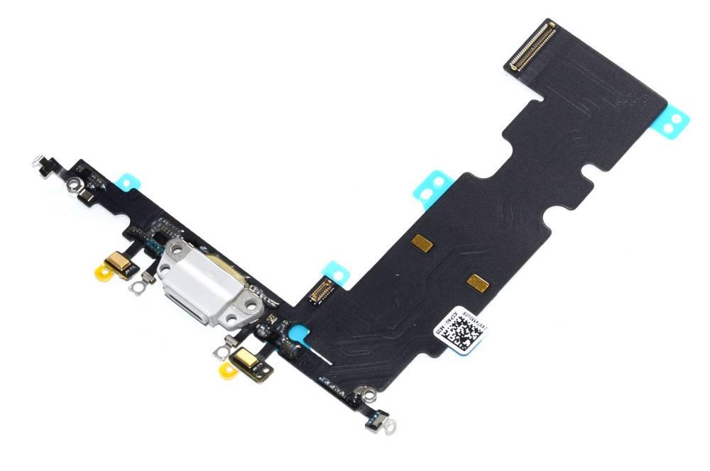 Επαφή Φόρτισης Apple iPhone 8 Plus με Μικρόφωνο Λευκό OEM Type A