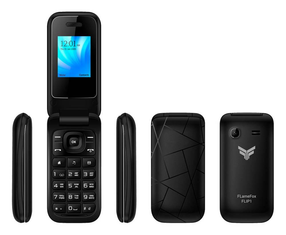 FlameFox Flip1 (Dual Sim) με Bluetooth, Κάμερα, Ραδιόφωνο (Λειτουργεί χωρίς Handsfree) GR