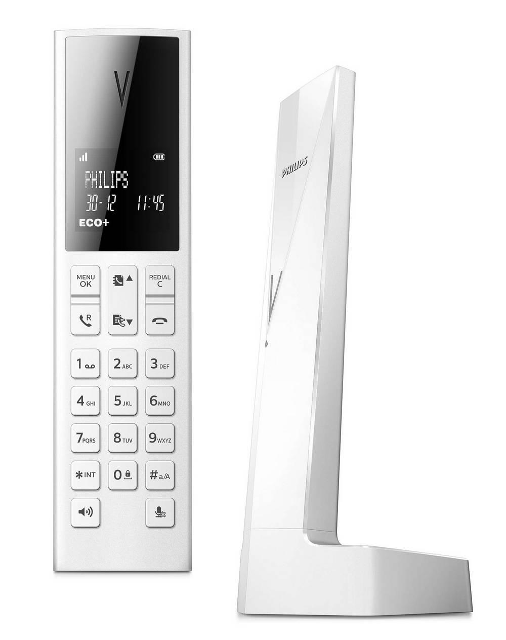 Ασύρματο Ψηφιακό Τηλέφωνο Philips Linea V M3501W/34 Λευκό με Λειτουργία ECO+