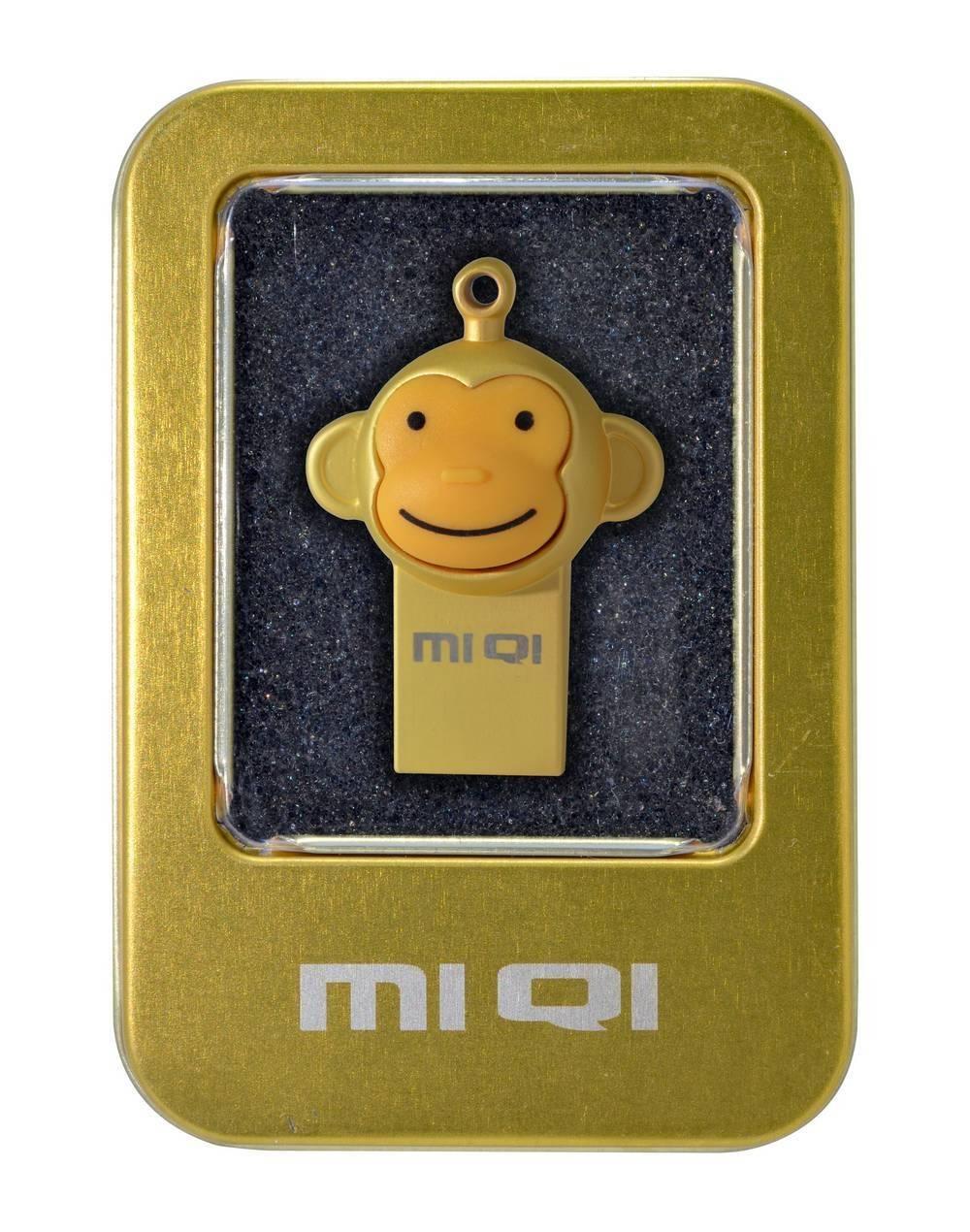 USB 2.0 MIQI Flash Drive M1 8GB Χρυσαφί Metal