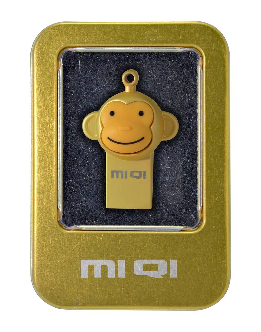 USB 2.0 MIQI Flash Drive M1 16GB Χρυσαφί Metal